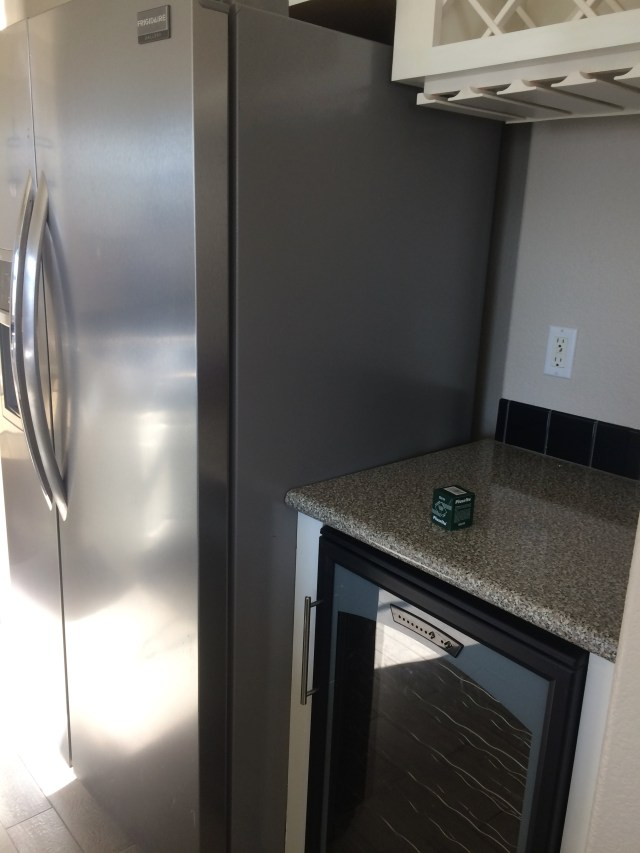 Frigidaire Refrigerator and Wine Fridge