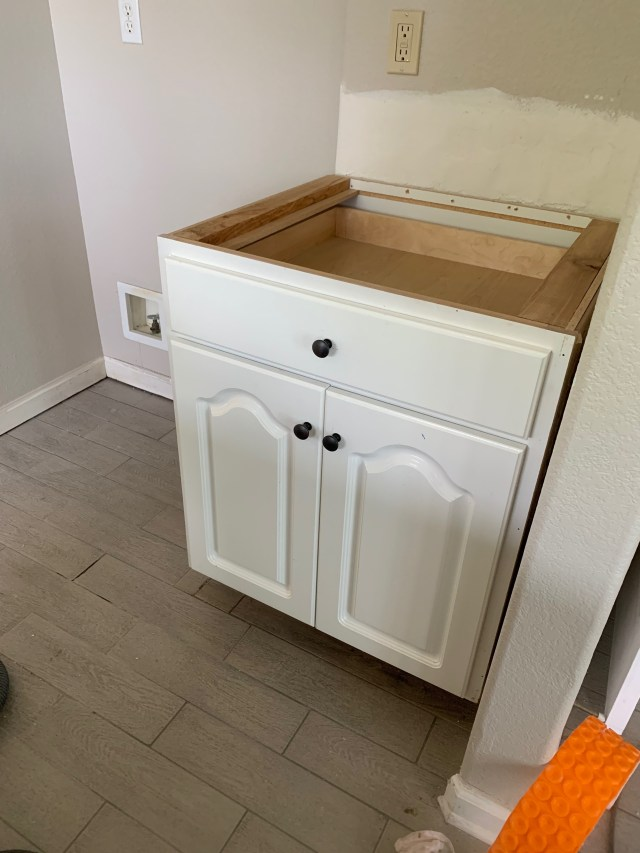 Cabinet installed