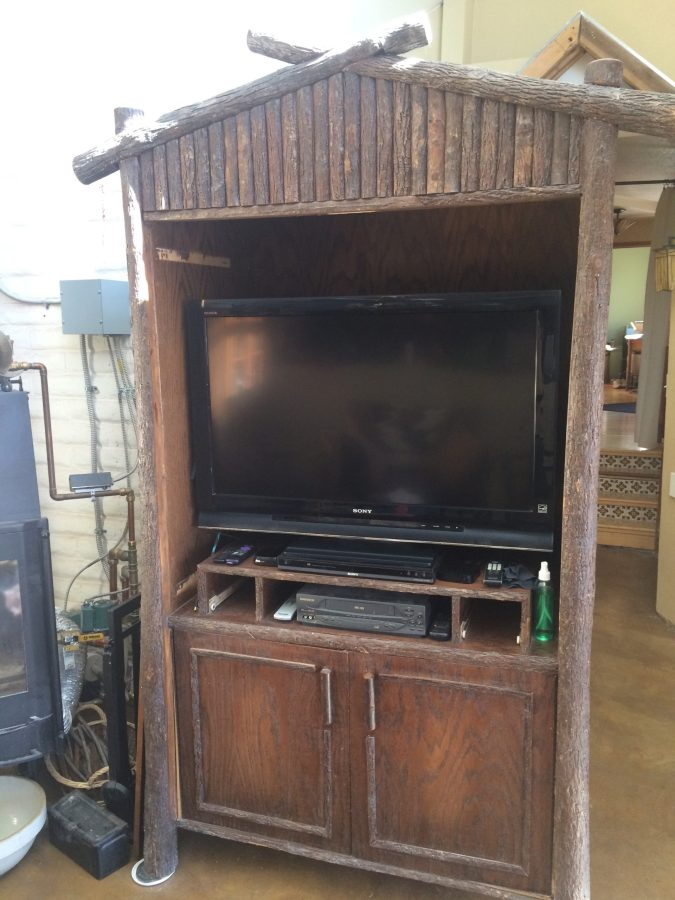 Cabinet with new used TV