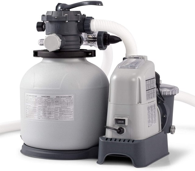 Intex sand filter with salt water system