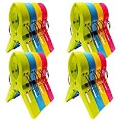Plastic pool clips