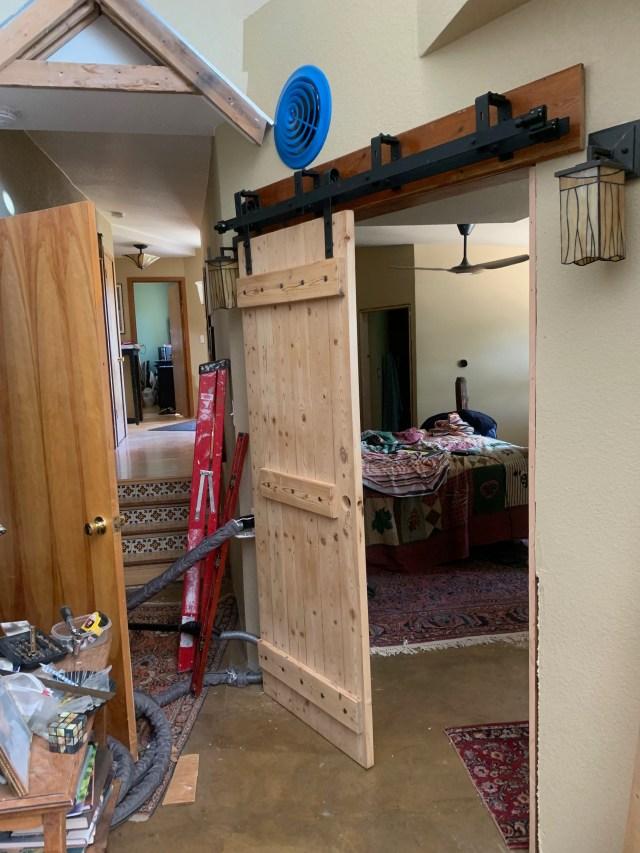 First door installed