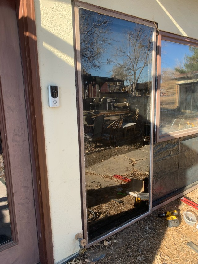 Firt trombe wall glass installed