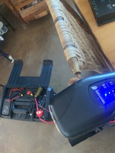 Motor running with battery box