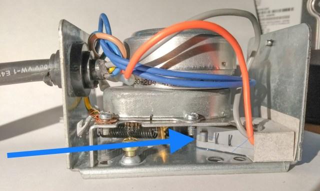 Honeywell zone valve end switch