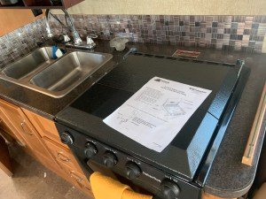 New stove cover