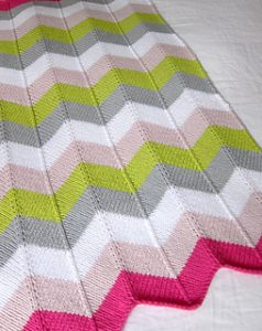 Chevron Baby Blanket by Espcace Tricot