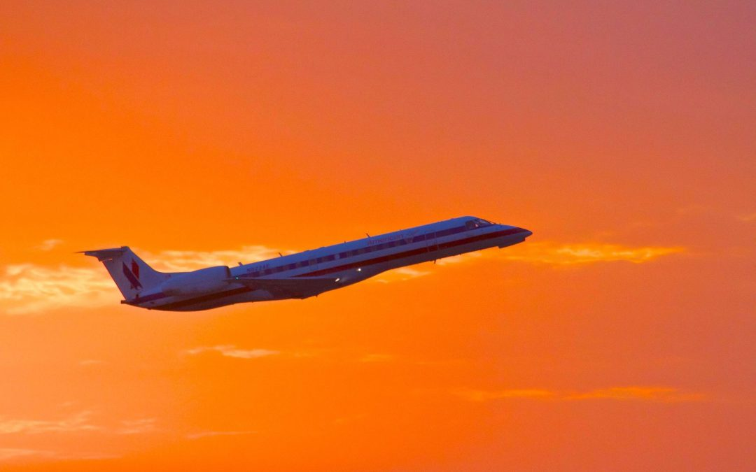 Sunset on an American Eagle