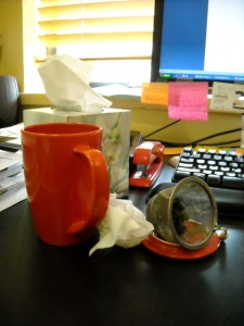 Cold and flu season in the office. Yuck.