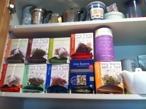 This blogger's cabinet. I see I'm out of Assam. #StuffTeaPeopleLike