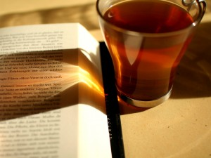 A book, some tea, and happiness implied. Obviously. #StuffTeaPeopleLike