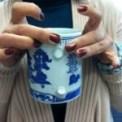 My friend Regna's favorite mug lost its handle long ago.