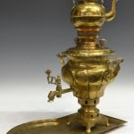 Check out this traditional Russian samovar.