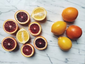 Some goodies at peak season right now: Blood Oranges and Meyer Lemons!