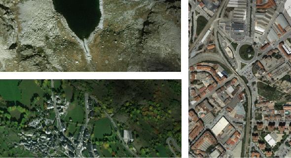 Mapa aerial orthophoto