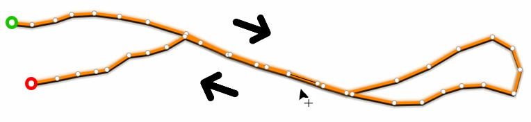 Create track points on top of the track you are editing