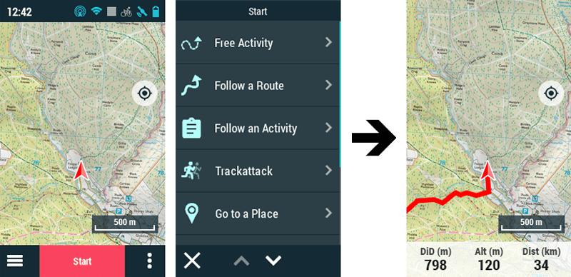 GPS TwoNav : Nouvelle interaction dans la fenêtre des cartes