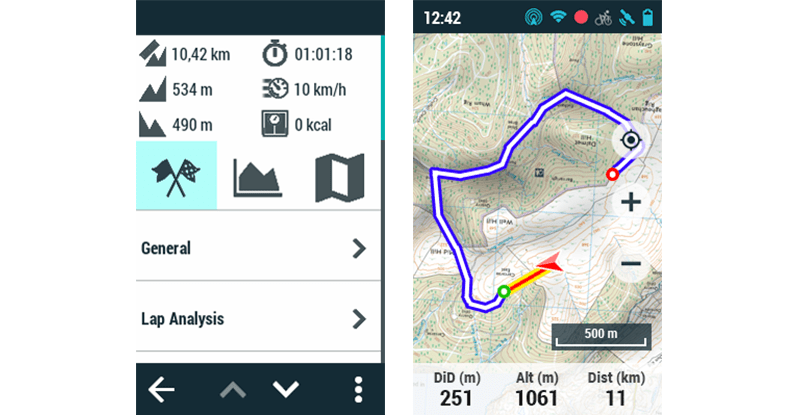 GPS TwoNav: Download bicycle touring routes for France in under a minute