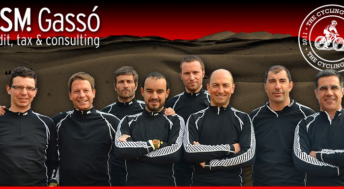 RSM Gasso Team that will participate in the next Titan Desert 2011 edition mountain bike competition.