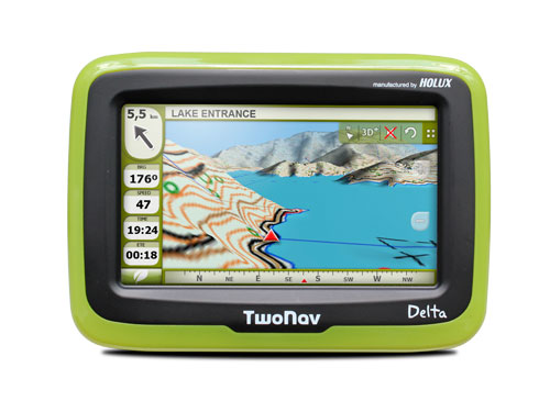 TwoNav Delta is compatible with Navionics for a maritime navigation.