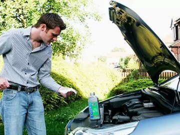 Check your engine oil level
