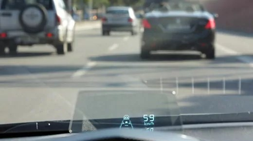 Mazda 3 head-up display (c) Mazda