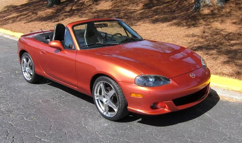 Mazda MX-5 Mk3 in Lava Orange
