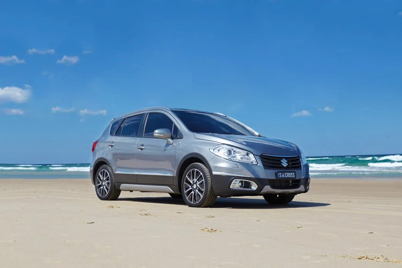 Suzuki S-Cross on a beach