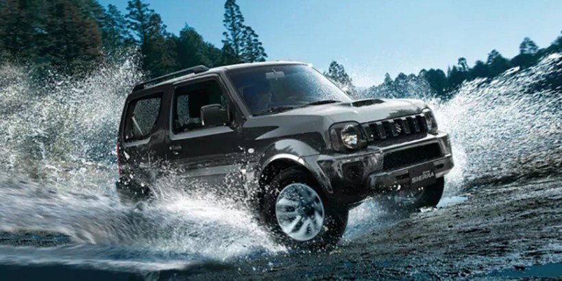Jimny Adventure driving through water