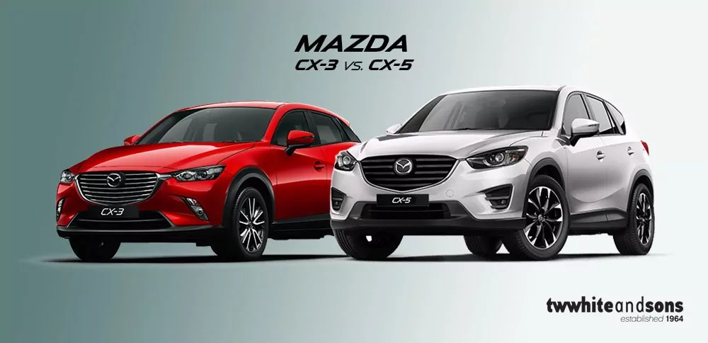 car review mazda cx 5 vs cx 3 t w white sons blog. Black Bedroom Furniture Sets. Home Design Ideas