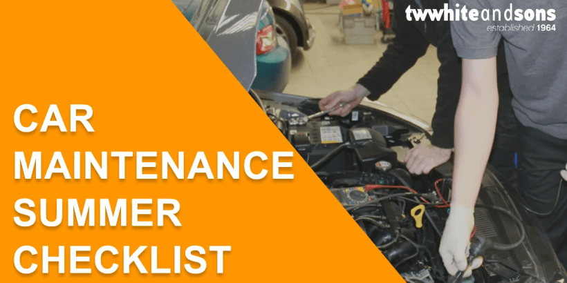 car maintenance summer checklist