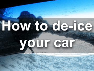 how to de-ice your car