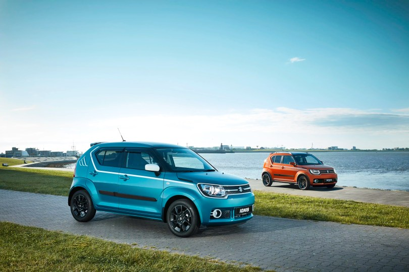 Suzuki ignis dual orange and blue