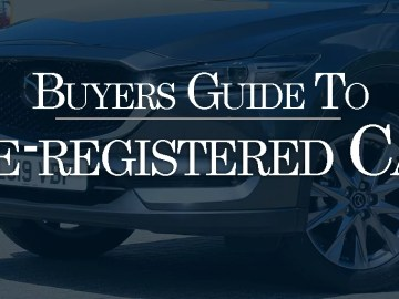 Guide to pre-registered cars