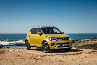 2020 Suzuki Ignis Rush Yellow Metallic front three-quarter