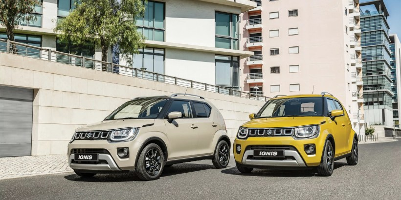 2020 Suzuki Ignis Tough Khaki Pearl Metallic and Rush Yellow Metallic