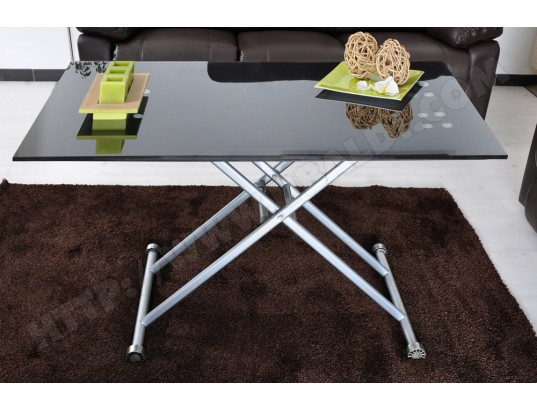 table basse plateau relevable pas cher