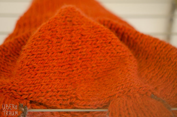 A foxy hood and appearing on Ravelry's homepage