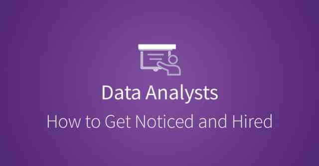 How to Get Hired as a Data Analyst via udacity.com