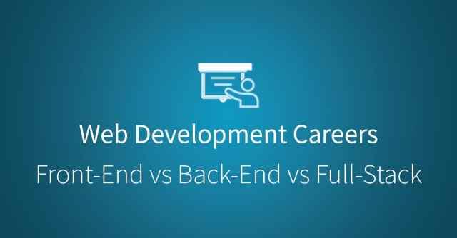 Web Development: Front-End Development, Back-End Development, and Full Stack Development via Udacity