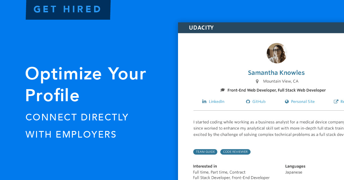 A New Way To Get Hired: Connecting Udacity Students Directly