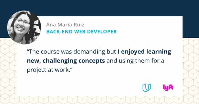 Udacity and Lyft student Ana