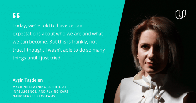 Women's History Artificial Intelligence Ayşin Taşdelen Udacity quote