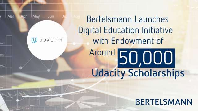 Udacity and Bertelsmann partner to provide 50,000 scholarships in areas of Cloud, Data and AI