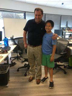 11-year-old Aaron Ma with David Silver