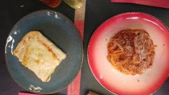 לזניה צמחונית וספגטי בולונז מדהימים.