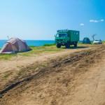 Campingplatz Schwarzes Meer im Süden von Odessa