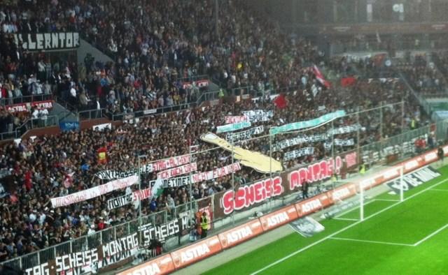 Protest gegen Montagsspiele, FC St.Pauli - Dynamo Dresden