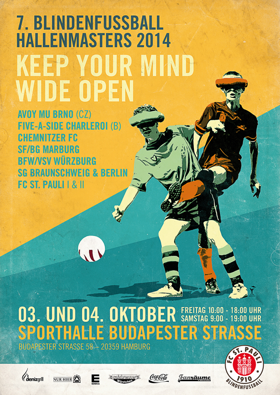 "Turnierplakat ""Keep your mind wide OPEN!"""