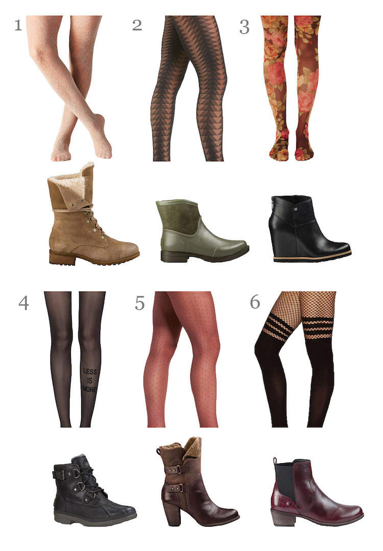 How to Wear Tights and Boots